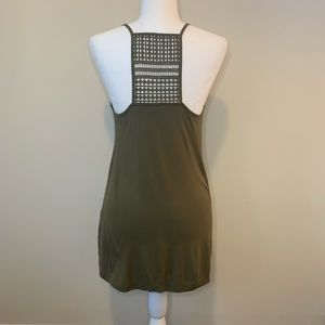 Old Navy Olive Green Embroidered Tank Top